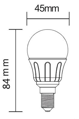 E14 medidas