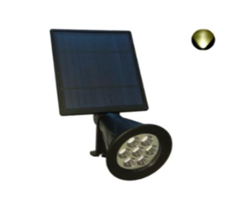 Foco LED Solar de Jardín 2W Redondo