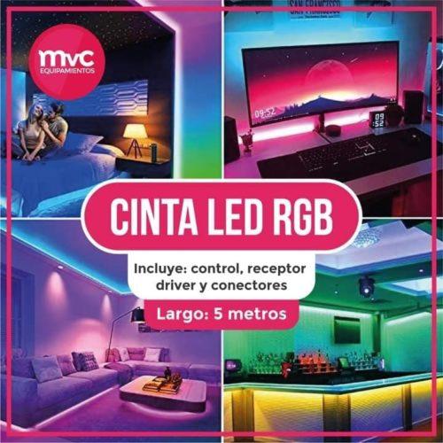Cinta LED RGB 5mts con Control Remoto